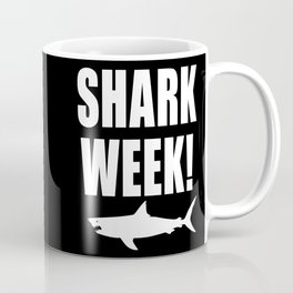Shark Week, white text on black Coffee Mug