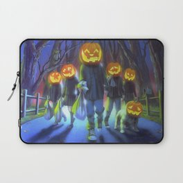 Attack of the Jack-O-Lanterns Laptop Sleeve