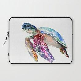 Sea Turtle, swimming turtle art, purple blue design animal art Laptop Sleeve