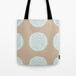 Doilies in Beige and Blue Tote Bag