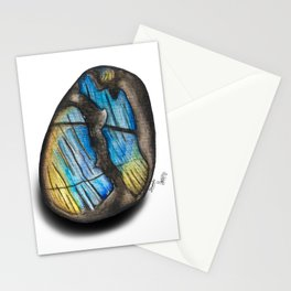 Illuminated Structure: Solo Blue & Gold Labradorite Stationery Cards