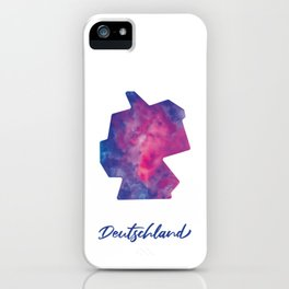 Karte von Deutschland in Aquarell iPhone Case