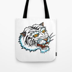 Traditional White Bengal Tiger Tote Bag
