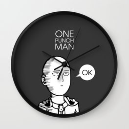 One Punch Man Saitama Wall Clock
