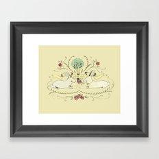 Spring Folk Art Framed Art Print