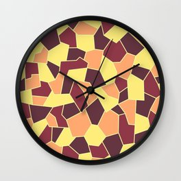 Hard Mosaic 05 Wall Clock