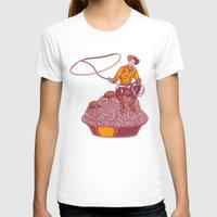 western T-shirts featuring Spaghetti Western by Tom Burns