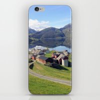 greg guillemin iPhone & iPod Skins featuring Norway Fjords - Greg Katz by Artlala for MSF Doctors Without Borders