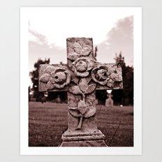 Cross of roses Art Print