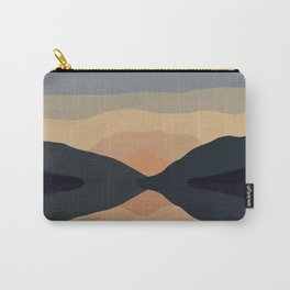 Sunset Mountain Reflection in Water Carry-All Pouch