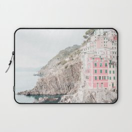 Positano, Italy pink-peach-white travel photography in hd. Laptop Sleeve