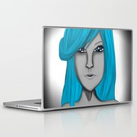 no face Laptop & iPad Skins featuring Face by LCMedia