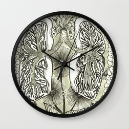The Anatomical Lungs- Organs and Herbs Wall Clock