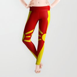 Macedonian national flag Leggings