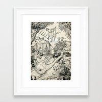 safari Framed Art Prints featuring Safari by David Jablow