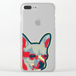 Chihuahua Glare Clear iPhone Case