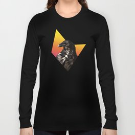 Low Poly Raven Long Sleeve T-shirt