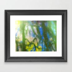 RAIN FOREST SUN Framed Art Print