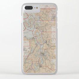 Vintage Map of The Puget Sound (1899) Clear iPhone Case
