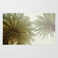 palm trees Area & Throw Rugs featuring Palm Trees by The ShutterbugEye