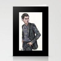 alex turner Stationery Cards featuring Alex Turner  by vooce & kat
