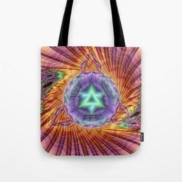 Alteuisha- Abstract Spiritual Fractal Art- Healing Art- Jewish Art- Merrkabbah Art Tote Bag