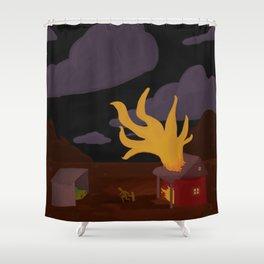 Night Fire Shower Curtain