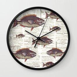 Fishing News Wall Clock