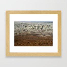 Ice meets Earth Framed Art Print