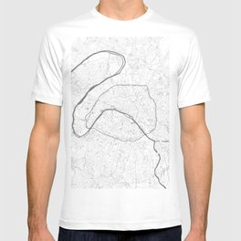 The Map of Paris Line Drawing T-shirt