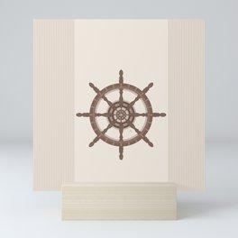 AFE Nautical Helm Wheel - Brown Mini Art Print