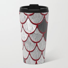Drain Scales with Red Outlines Travel Mug