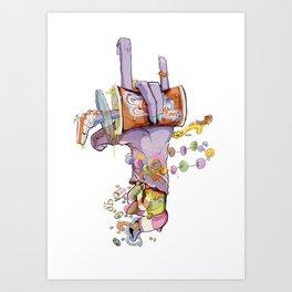 CandyHand Zombie  Art Print