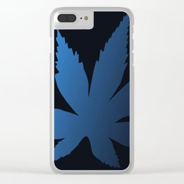 Blue Maple Leaf Clear iPhone Case
