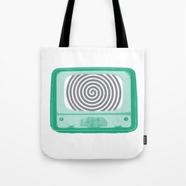 Hypnotized by Television Tote Bag