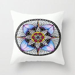 Watercolour Peddles Throw Pillow