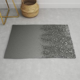 Sparkling Silver Gray Lady Glitter #2 (Faux Glitter) #shiny #decor #art #society6 Rug