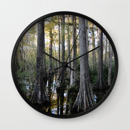 Cypress swamp Wall Clock