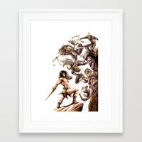 conan Framed Art Prints featuring Conan the Barbarian by Adam Rosenlund