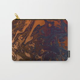 Orange Gradient Marble #marble #orange #blue #planet Carry-All Pouch