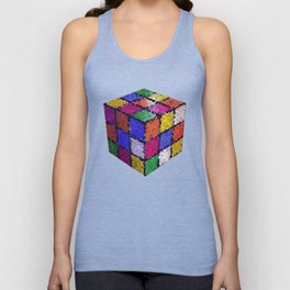 The color cube Unisex Tank Top