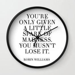 robin williams quote Wall Clock