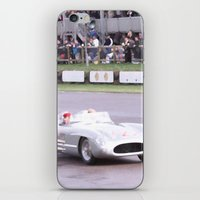 mercedes iPhone & iPod Skins featuring Mercedes Benz Silberpfeil with Stirling Moss by Premium