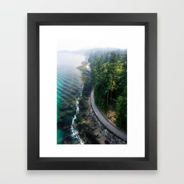 The Vancouver Seawall Framed Art Print
