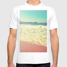 Summer in California MEDIUM White Mens Fitted Tee