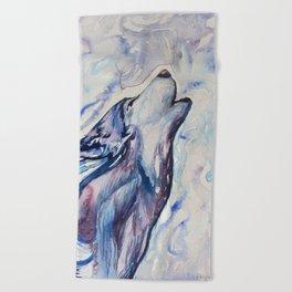 Wolf Howl Beach Towel