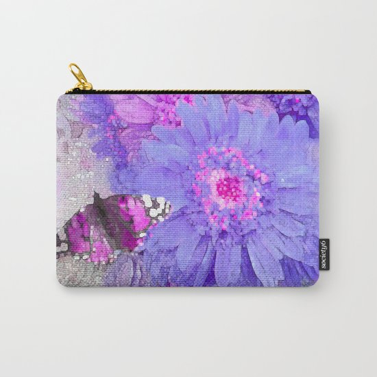 Daisy and Butterfly Carry-All Pouch