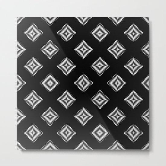 Optical Triangles Metal Print