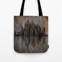 metropolis Tote Bags featuring Metropolis by Robin Curtiss