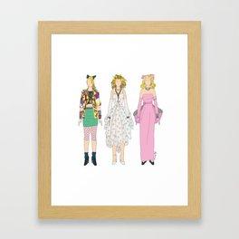 Triple Madge Material Girl Framed Art Print